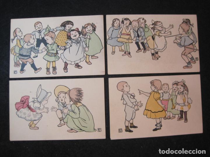 Postales: NIÑOS JUGANDO Y BAILANDO-COLECCION DE 5 POSTALES ANTIGUAS-VER FOTOS-(82.857) - Foto 2 - 282976418