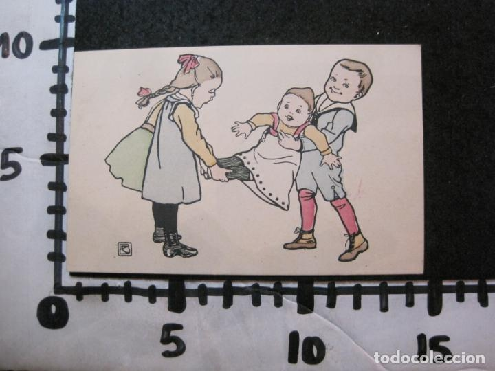 Postales: NIÑOS JUGANDO Y BAILANDO-COLECCION DE 5 POSTALES ANTIGUAS-VER FOTOS-(82.857) - Foto 6 - 282976418