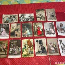 Postales: LOTE DE 16 POSTALES DE NIÑOS CON MÁS DE 110 AÑOS DE ANTIGUEDAD - CIRCULADAS. Lote 288162203