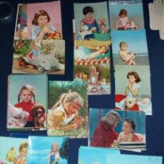 Postales: 42 TARJETAS POSTALES DE NIÑOS AÑOS 50 Y 60. Lote 295008583