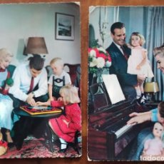 Postales: LOTE 2 FOTO POSTAL KODAK FAMILIAR AÑOS 60 ITALIANAS. Lote 295279453