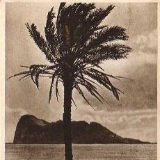 Postales: POSTAL DE GIBRALTAR - ARTISTIC VIEW THE ROCK FROM SAPANISCH SHORES. Lote 24178902