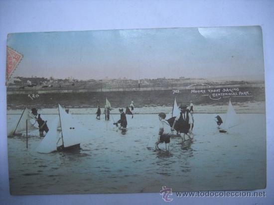 723. MOORE YACHT SAILING CENTENNIAL PARK. SIDNEY (AUSTRALIA) CIRCULADA EN 1908. (Postales - Postales Extranjero - Oceanía)