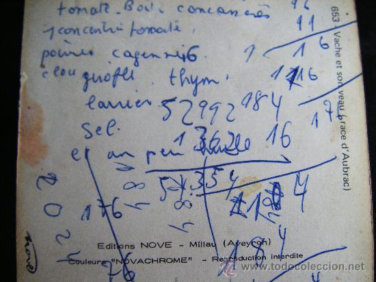 Postales: POSTALE EDITION NOVE - MILLAU COULEURS NOVACHOME. VACHE ET SON VEAU RACE D´AUBRAC. Nº 653 - Foto 3 - 32024444