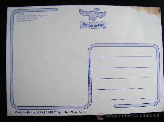 Postales: POSTALE EDITION DE LUXE LA LOZERE PITIORESQUE LES DETROITS. Nº 48-128 - Foto 2 - 32024194
