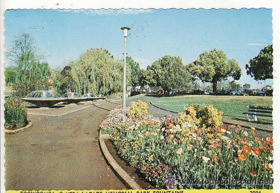 +-+ PV747 - TOOWOOMBA - Q. VERA LACEZW MEMORIAL PARK FONUNTAINS - AUSTRALIA (Postales - Postales Extranjero - Oceanía)