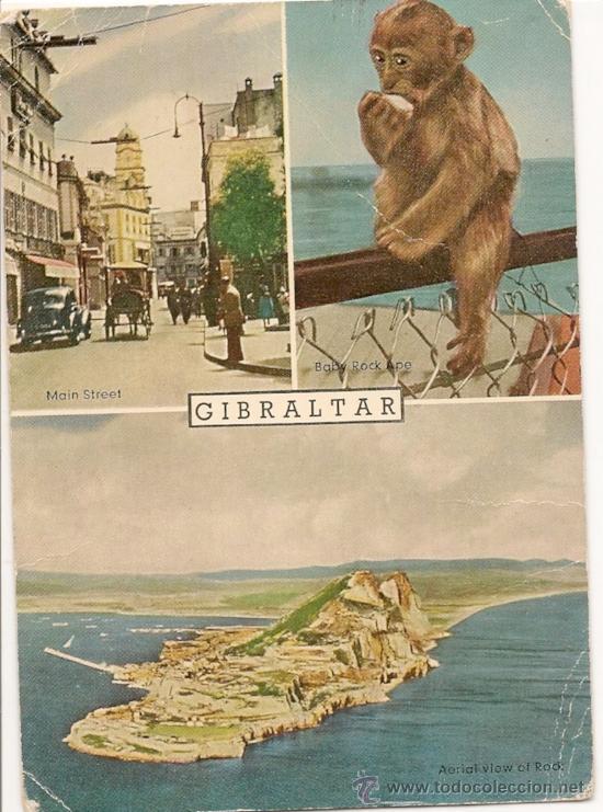 GIBRALTAR - POSTAL ANTIGUA (Postales - Postales Extranjero - Oceanía)