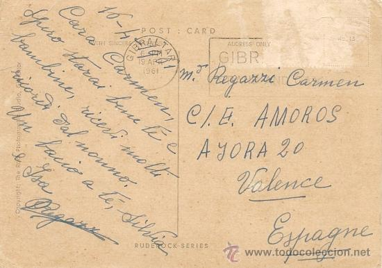 Postales: GIBRALTAR - POSTAL ANTIGUA - Foto 2 - 33768448