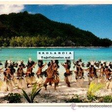Postales: POSTAL TAHITI. GRUPO DE DANZA FOLKLORICO COCO. NUEVA SIN ESCRIBIR. Lote 41254848