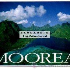 Postales: POSTAL TAHITI. VISTA AEREA BAHIA DE MOOREA. Lote 41254868