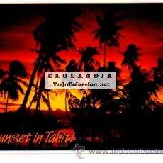 Postales: POSTAL TAHITI RARA PUESTA DEL SOL. Lote 41254889