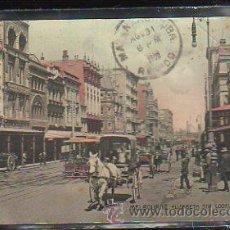 Postales: TARJETA POSTAL DE MELBOURNE - ELIZABETH STR. LOOKING SOUTH. CIRCULADA DE AUSTRALIA A MATANZAS, CUBA. Lote 42587706