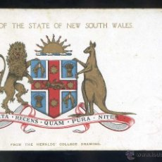 Postales: *ARMS OF THE STATE OF NEW SOUTH WALES...* CIRCULADA SYDNEY 6 JUNIO 1908.. Lote 44377843