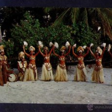 Postales: TAHITI *DANCERS ON THE BEACH OF PAEA* CIRCULADA 1973.. Lote 44813602