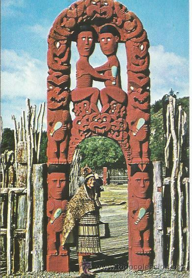 == E544 - POSTAL - THIS FAMOUS PIECE OF MAORI ART WAS CARVED OVER HALF A CENTURY AGO (Postales - Postales Extranjero - Oceanía)