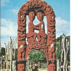 Postales: == E544 - POSTAL - THIS FAMOUS PIECE OF MAORI ART WAS CARVED OVER HALF A CENTURY AGO. Lote 221661797