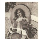 Postales: POSTALES POSTAL ROMANTICA AÑO 1906 SELLOS SELLO BELGICA. Lote 52140272