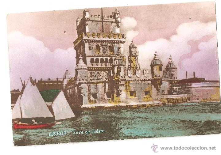POSTALES POSTAL PORTUGAL LISBOA AÑO 1946 SELLOS INTERESANTES (Postales - Postales Extranjero - Oceanía)