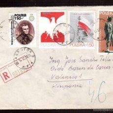 Postales: SOBRE DE POLONIA EL QUE VES . Lote 55714662