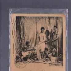 Postales: TARJETA POSTAL. NUEVA CALEDONIA. COSTUMBRISTA. PLUSIEURS INDIGENES DE I'LLE OUEN. 21. HENRY CAPORN. Lote 57614282
