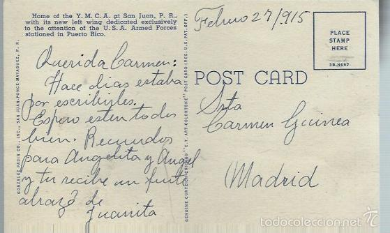 Postales: PRECIOSA POSTAL DE SAN JUAN DE PUERTO RICO - ESCRITA EL 27 - 2 - 1915 - Foto 2 - 57738065
