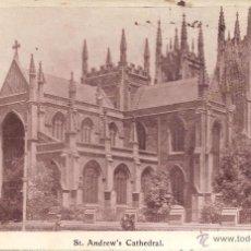 Postales: ANTIGUA FOTO / POSTAL DE SYDNEY, NEW SOUTH WALES (AUSTRALIA) ST. ANDREW'S CATHEDRAL - ESCRITA 1913. Lote 68369861
