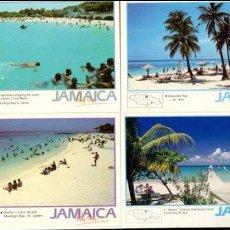 Postales: JAMAICA - LOTE 5 TARJETAS POSTALES, SIN CIRCULAR. Lote 78336841