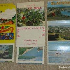 Postales: AUSTRALIA, TRES DESPLEGABLES, RECUERDO DE KURANDA, PORT DOUGLAS Y GLADSTONE, AÑOS 60. Lote 89835784