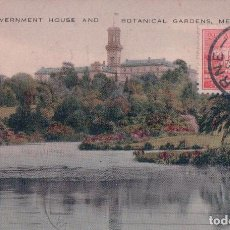 Postales: BOTANICAL GARDENS AND GOVERNMENT HOUSE - MELBOURNE - VALENTINES . AUSTRALIA POSTAL. Lote 95160519