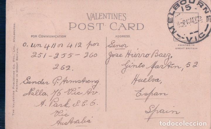 Postales: BOTANICAL GARDENS AND GOVERNMENT HOUSE - MELBOURNE - VALENTINES . AUSTRALIA POSTAL - Foto 2 - 95160519