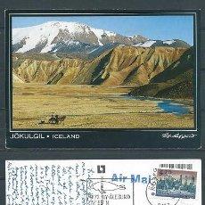 Postales: ISLANDIA,MONTE JÖKULGIL,AÑOS 90,CIRCULADA. Lote 100490534