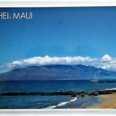 Postales: KIHEI, CONDADO DE MAUI (HAWAI). LITORAL CON BARCO. USADA CON SELLO.. Lote 103281020