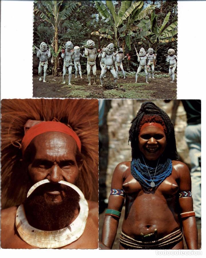 Postales: LOTE DE 121 POSTALES Y VISTAS DE NUEVA GUINEA. AÑOS 1960 - Foto 2 - 103417103