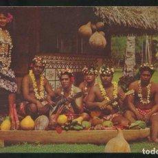 Postales: TAHITI. *FÊTE TAHITIENNE - TAHITIAN FEAST* ESCRITA.. Lote 110790135