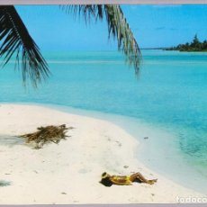 Postales: POLINESIA - TAHITI - ALONE ON A DISTANT BEACH. Lote 120902255