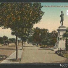 Postales: AUSTRALIA - MELBOURNE - BURNS STATUE AND ST. KILDA ROAD - P27438. Lote 135419270