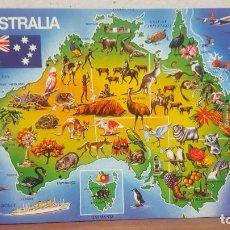 Postales: POSTAL ANTIGUA AUSTRALIA.- MAPA DE AUSTRALIA. Lote 135720223