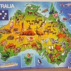 Postales: POSTAL ANTIGUA AUSTRALIA.- MAPA DE AUSTRALIA. Lote 135720251