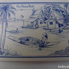 Postales: BLOC DE 12 POSTALES DE THAILANDIA. THAI FLOATING MARKET.. Lote 147055378
