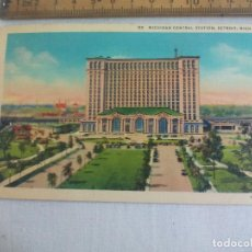 Postales: ANTIGUA POSTAL D3 MICHIGAN CENTRAL STATION, DETROIT. MICH. ZA-H568. ESTADOS UNIDOS. 1939 POSTCARD. Lote 148695470
