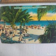 Postales: ANTIGUA POSTAL A PUBLIC BATHING BEACH AT MIAMI BEACH, FLORIDA, 79 ESTADOS UNIDOS. 1939 POSTCARD. Lote 148695646
