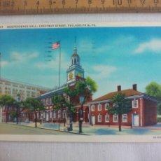 Postales: ANTIGUA POSTAL 197 INDEPENDENCE HALL CHESTNUT STREET PHILADELPHIA, PA. ESTADOS UNIDOS. 1939 POSTCARD. Lote 148696050