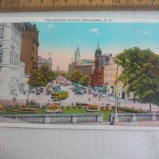 Postales: ANTIGUA POSTAL B. S. REYNOLDS. PENNSYLVANIA AVENUE WASHINGTON D.C. ESTADOS UNIDOS. 1939 POSTCARD. Lote 148696778