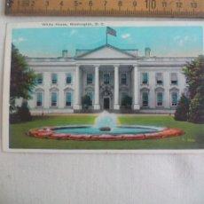 Postales: ANTIGUA POSTAL B. S. REYNOLDS. WHITE HOUSE, R.8390 WASHINGTON D.C. ESTADOS UNIDOS. 1939 POSTCARD. Lote 148696862