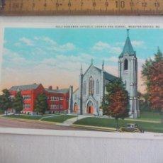 Postales: ANTIGUA POSTAL HOLY REDEEMER CATHOLIC CHURCH SCHOOL WEBSTER GROVES USA 1939 POSTCARD. Lote 148696994