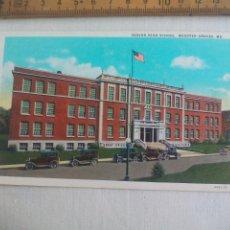 Postales: ANTIGUA POSTAL SENIOR HIGH SCHOOL. 4403-29 WEBSTER GROVES USA 1939 POSTCARD. Lote 148697090