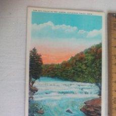 Postales: ANTIGUA POSTAL THE BIG FALLS IN GORGE CUYAHOGA FALLS OHIO 130215 USA 1939 POSTCARD. Lote 148697298