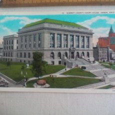 Postales: ANTIGUA POSTAL 13 SUMMIT COUNTY COURT HOUSE, AKRON OHIO USA 1939 POSTCARD. Lote 148697386