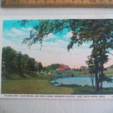 Postales: ANTIGUA POSTAL SILVER LAKE CLUB HOUSE GOLF LINKS SHOWING CRYSTAL 4984-29 AKRON OHIO US 1939 POSTCARD. Lote 148697798