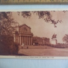 Postales: ANTIGUA POSTAL THE ART MUSEUM IN FOREST PARK, ST LOUIS, MO. 105. ESTADOS UNIDOS 1939 POSTCARD. Lote 148698510